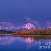 Autumn Morning Grand Tetons National Park Wyoming Poster