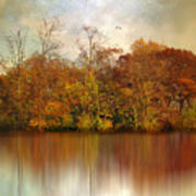 Autumn On A Pond Poster