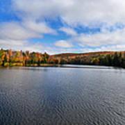 Autumn On Lake Plumbago Poster