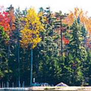 Autumn On The Fulton Chain Of Lakes In The Adirondacks II Poster
