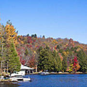Autumn On The Fulton Chain Of Lakes In The Adirondacks V Poster