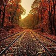 Autumn On The Tracks Poster