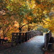 Autumn Overpass Poster