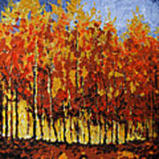 Autumn Palette Poster by Vickie Warner