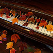 Autumn Piano 7 Poster