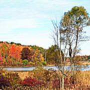 Mendon Ponds In Autumn Poster