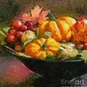 Autumn Pumpkins Poster