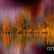 Autumn Reflection Digital Photo Art Poster