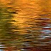 Autumn Reflections In Pond Poster