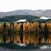 Autumn Reflections On Loch Ard  Poster