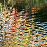 Autumn River Water Reflections  Poster
