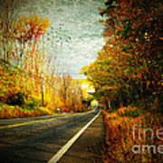 Autumn Road Connecticut Usa Poster
