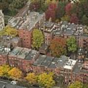 Autumn Rooftops Of Boston Poster