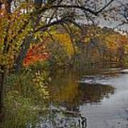 Autumn Scene Of The Flat River Poster