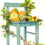 Autumn Still Life Chair Poster