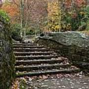 Autumn Stone Staircase Poster