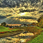 Autumn Sunset Reflection Poster by Jim Lepard
