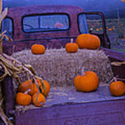 Autumn Truck Poster