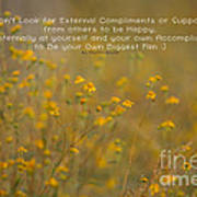 Autumn Wildflowers W Quote Poster