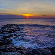 Avalon New Jersey Sunrise Poster