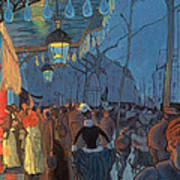 Avenue De Clichy Paris Poster by Louis Anquetin