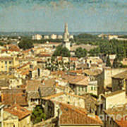 Avignon From Les Roches Poster