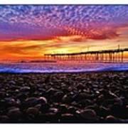 Avon Pier Shells Sunrise Poster
