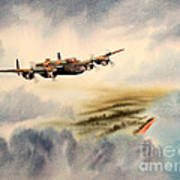 Avro Lancaster Over England Poster