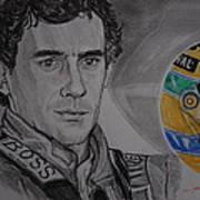 Ayrton Senna Portrait Poster