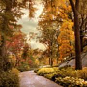 Azalea Garden In Autumn Poster