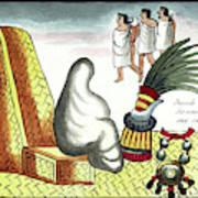 Aztec Burial Ritual Poster