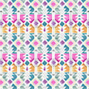 Aztec Inspired Arrow And Geometric Pattern One.jpg Poster
