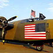 B-24 Bomber - Diamond Lil Poster