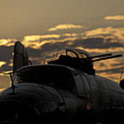 B-25 Sunset Poster
