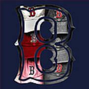 B For Bosox - Boston Red Sox Poster by Joann Vitali