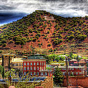 B Hill Over Historic Bisbee Poster