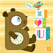 B Is For Baby Bear Poster