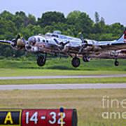 B17 Bomber Taking Off Poster
