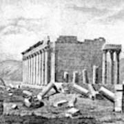 Baalbek Aka Heliopolis, 1845 Poster
