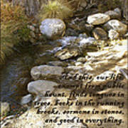 Babbling Brook William Shakespeare Quote Poster