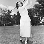 Babe Didrikson Golfing Poster