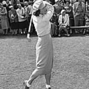 Babe Didrikson Teeing Off Poster