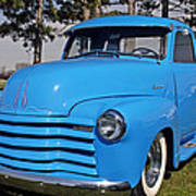 Baby Blue Chevy From 1950 Poster