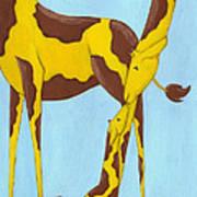 Baby Giraffe Nursery Art Poster