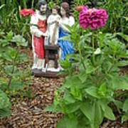 Baby Jesus In Garden Poster