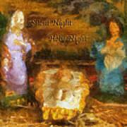 Baby Jesus Silent Night Photo Art Poster