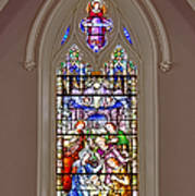 Baby Jesus Stained Glass Window Poster