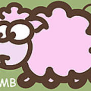 Baby Lamb Nursery Art Poster by Nursery Art