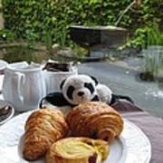 Baby Panda And Croissant Rolls Poster