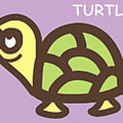 Baby Turtle Nursery Wall Art Poster